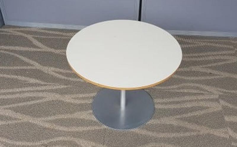 530mm diameter white coffee table