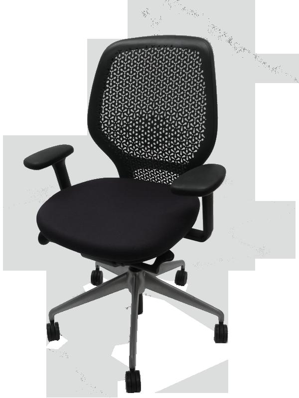 Orangebox ARA black task chair