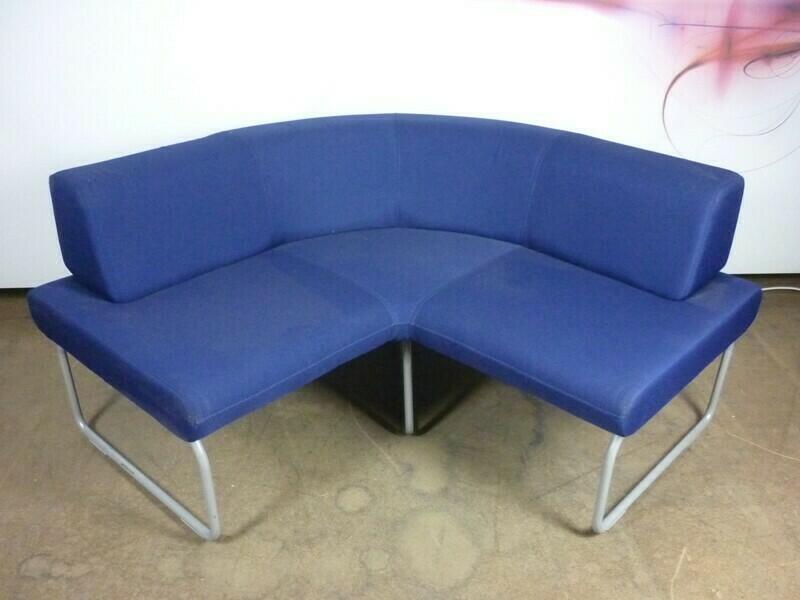 Blue amp grey modular sofas