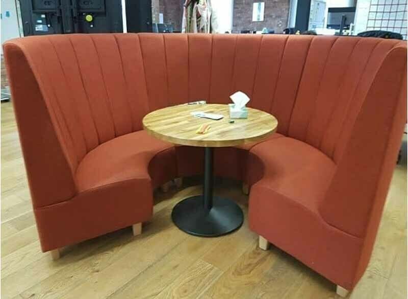 Sectional acoustic booth seating