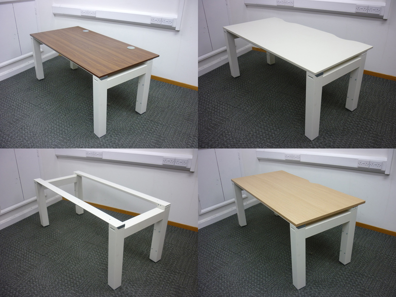 Chunky leg 1600x800mm white frame with choice of top