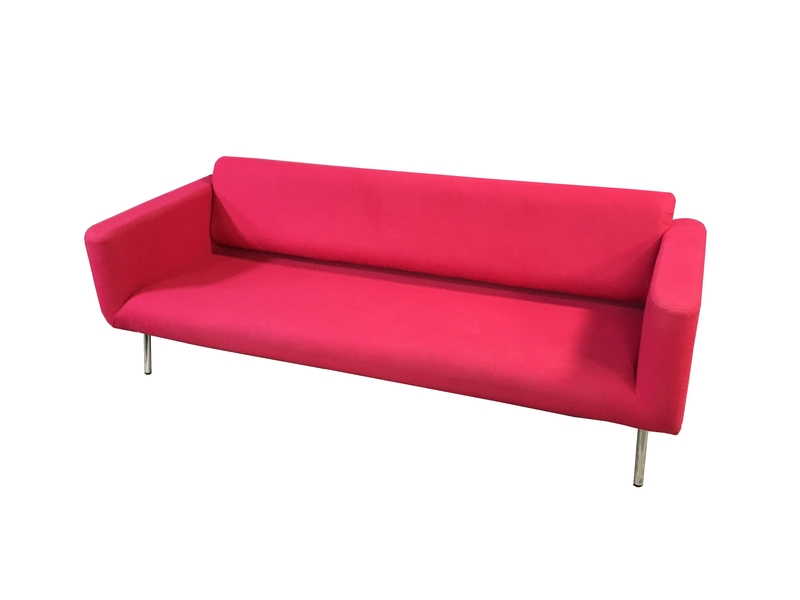 Connection red/pink 3 seater sofas