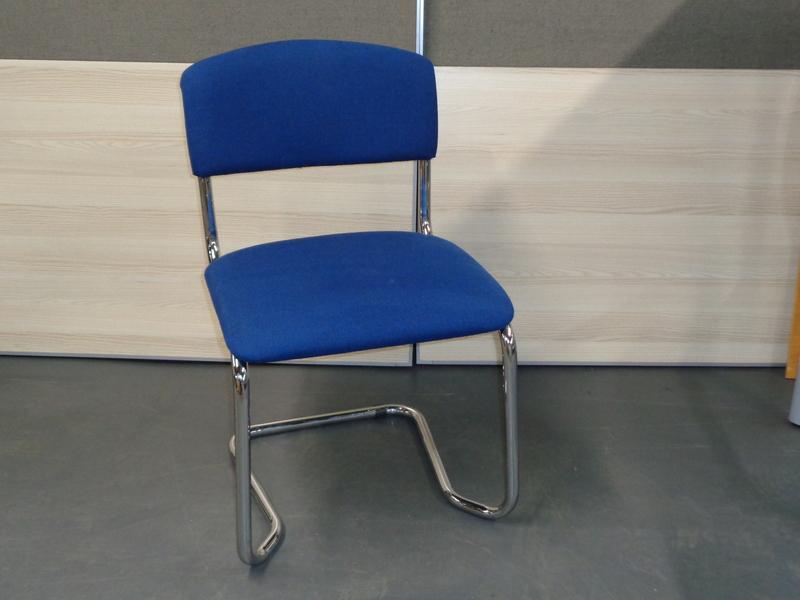 Blue fabric meeting chair