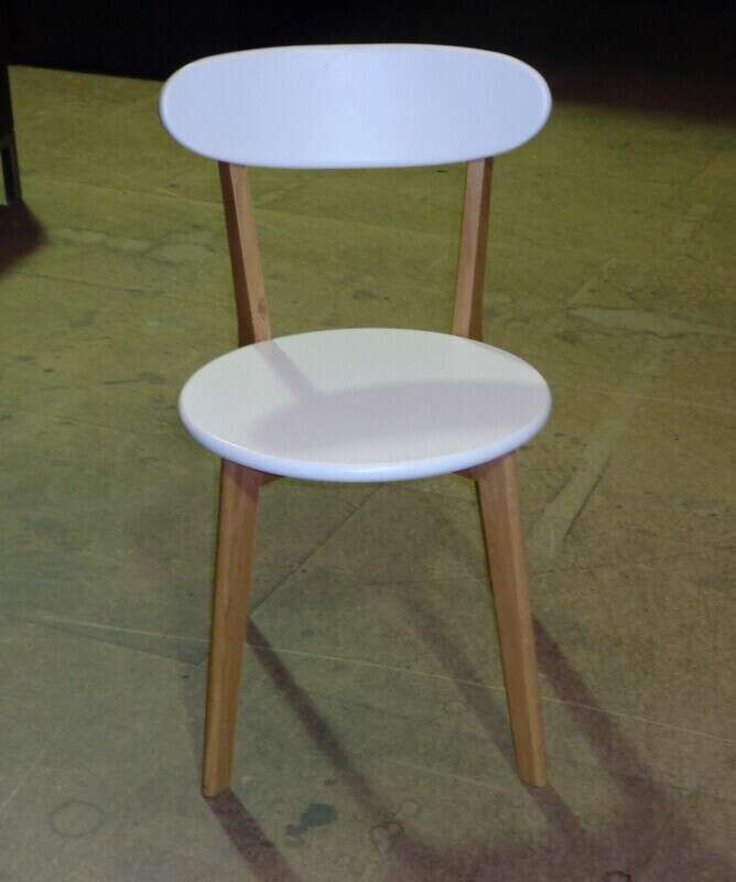 Oak and white wood cafe chair