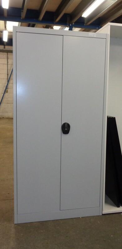 Light grey metal cupboard 1960h