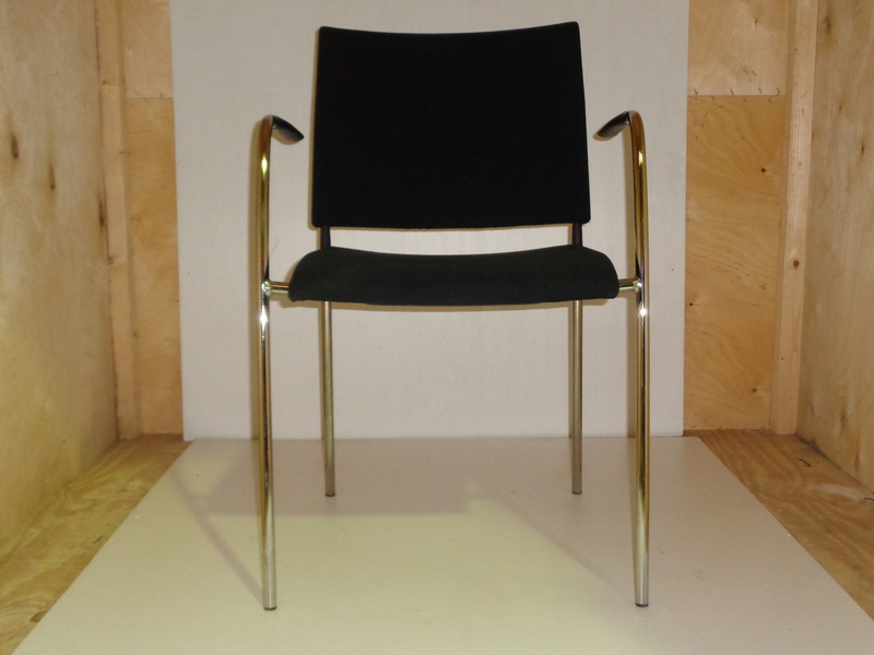 Lammhults black and chrome meeting chair