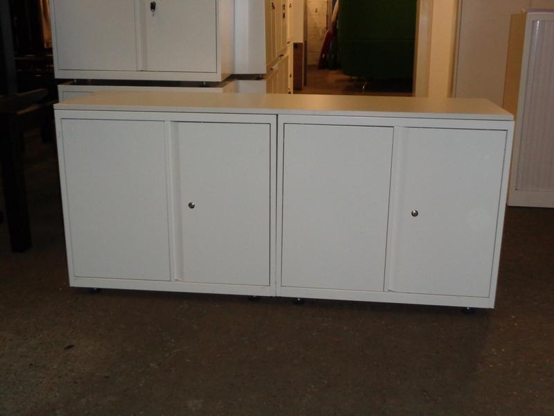 White metal cupboards pair or single (Priced per cupboard)