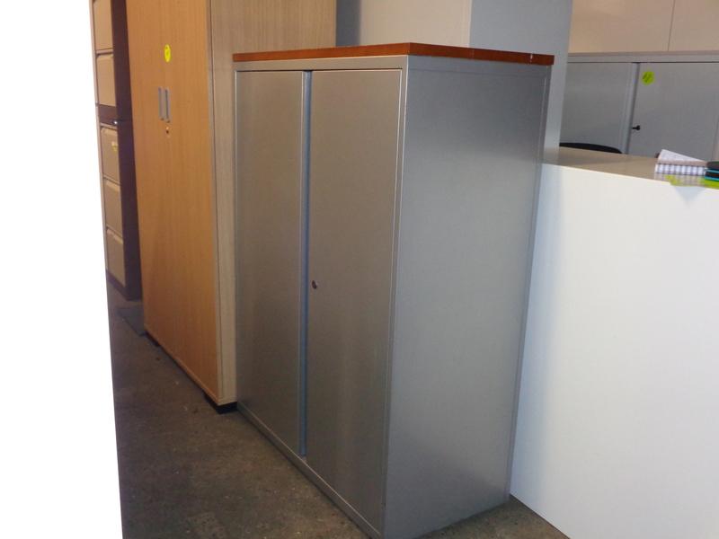 Grey metal cupboard