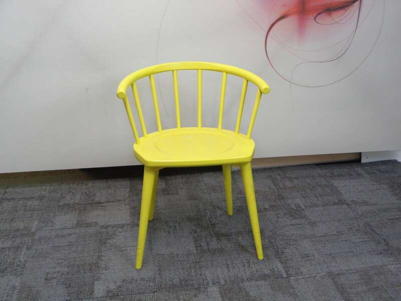 Andy Thornton yellow W lounge chair