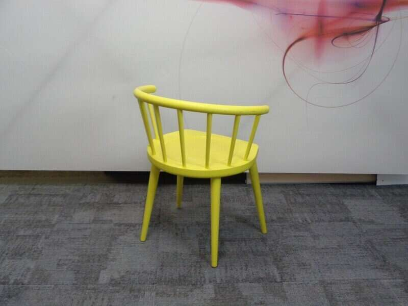 Andy Thornton yellow W. lounge chair