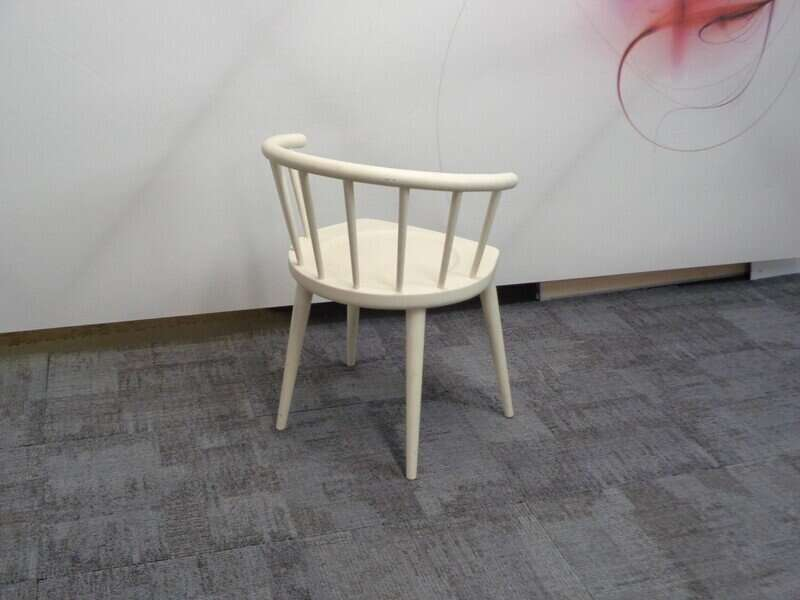 Andy Thornton off white W. lounge chair