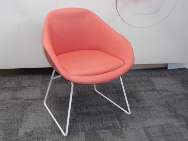 naughtone always chair in orange