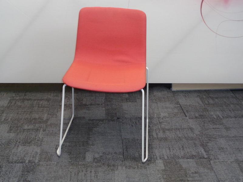 Fredericia chair in burnt orange
