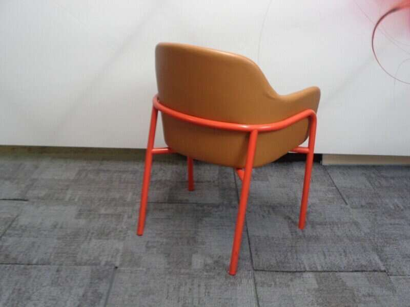 Red and tan chair
