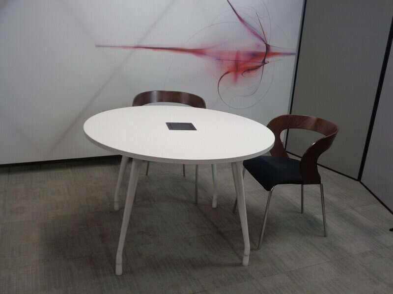 Herman Miller Abak Circular table with electric console