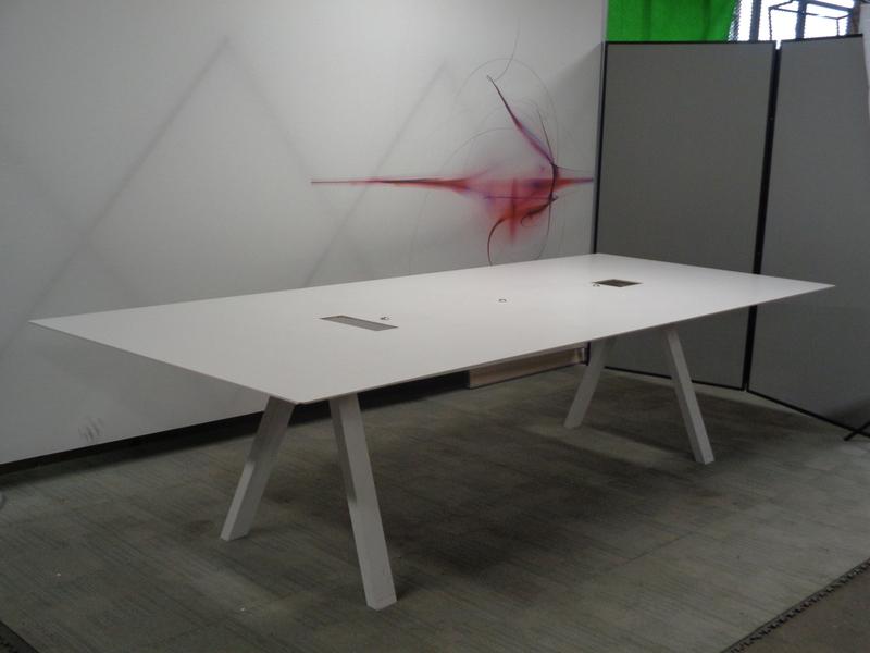 3 metre white boardroom table
