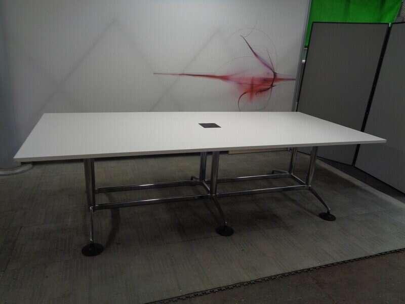 White Boardroom Table