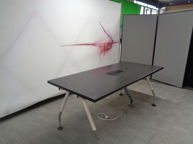 Black Boardroom Table