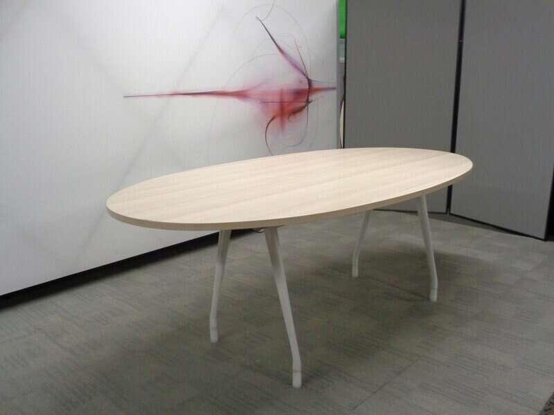 Light Oak Oval Boardroom Table