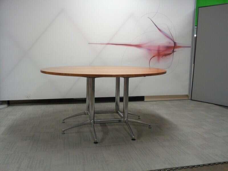 Circular Oak Boardroom Table