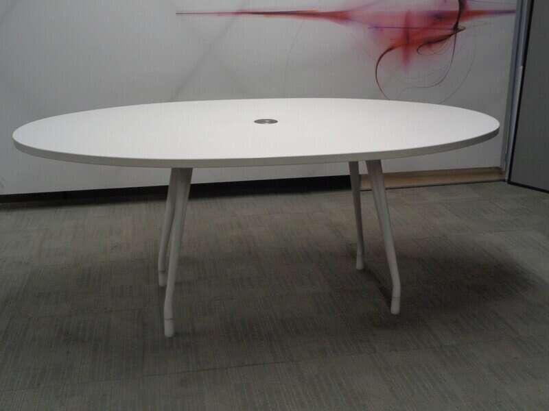 Herman Miller White Oval Boardroom Table