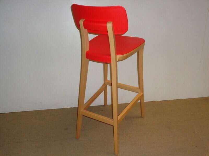 Connection red retro stool