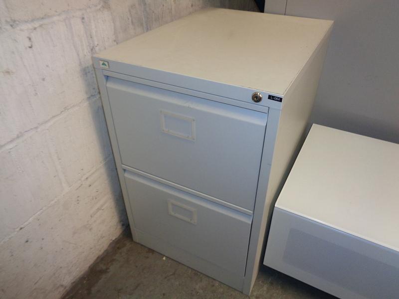 Grey 2 Drawer Filing Cabinet