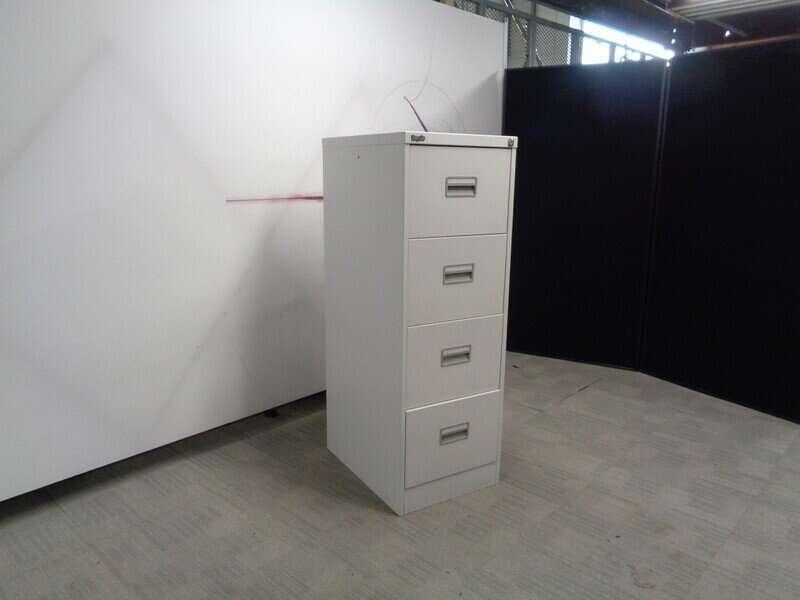 Grey 4 Drawer Filing Cabinet