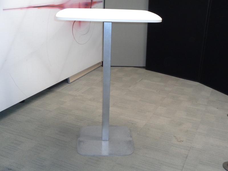 Square White 750mm Poseur Table