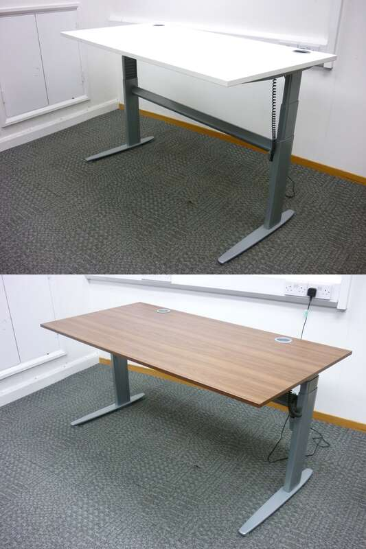 1400 amp1600mm electric sitstand desks with choice of tops