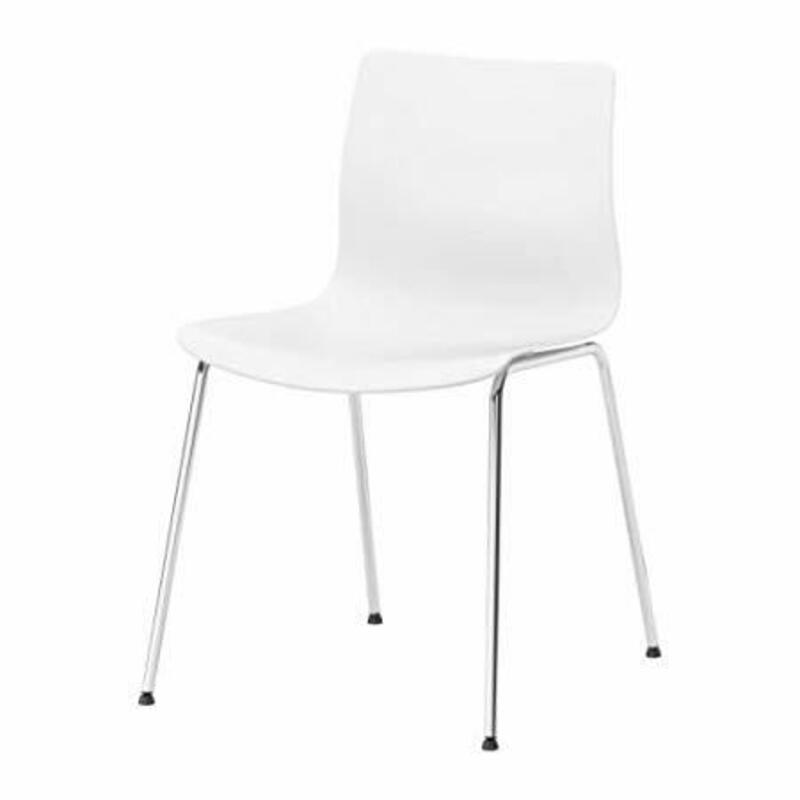 White Ikea Erland stacking chair