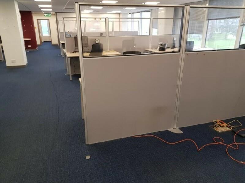 1800h x 1600w mm part glazed floor standing screens
