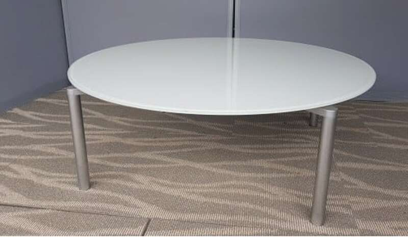 Fritz Hansen white glass coffee table