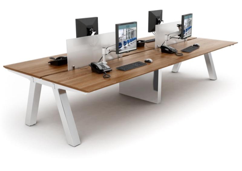 Task Unity walnut 1400 amp 1500mm bench desks