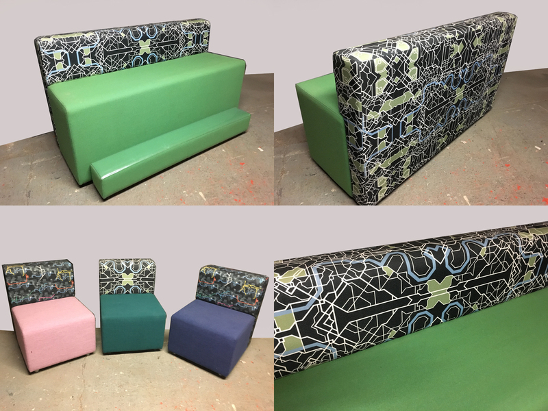 Funky high seating breakout sofas and armchairs