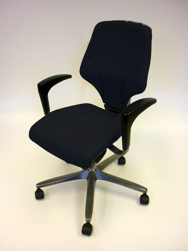 Black Giroflex G64 task chairs with arms