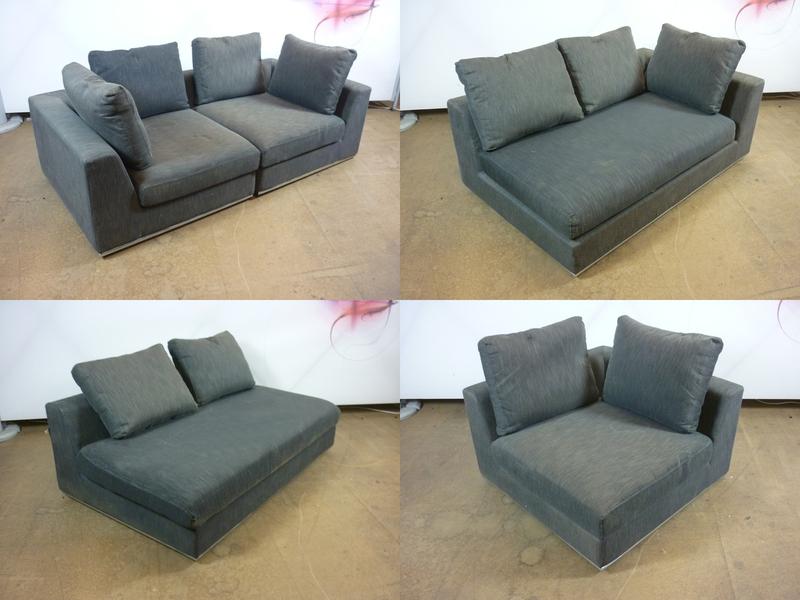 Dwell grey modular seating