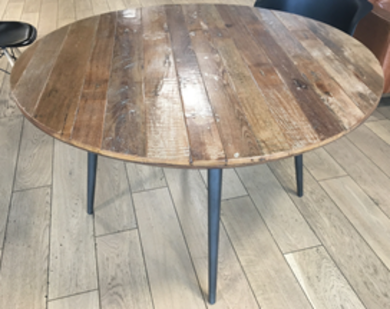 Rustic cafe style tables