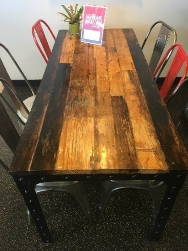 Rustic table by Vincent Barn