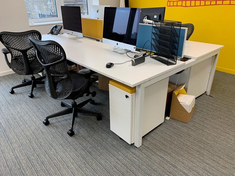Herman Miller layout bench desks