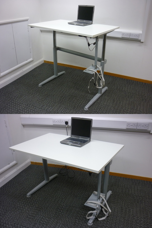 Electric height adjustable desks, various sizes (CE)