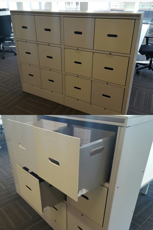 12 drawer white lockers