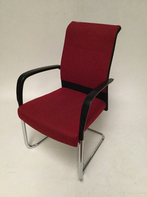 Kusch + Co red high back meeting chair (CE)