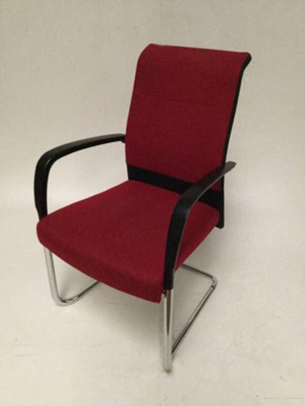 Kusch nbspCo red high back meeting chair