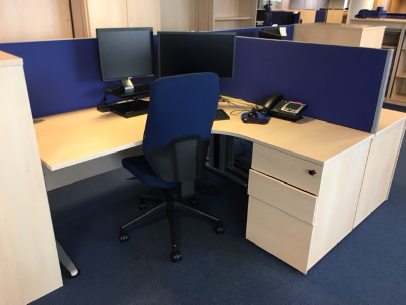 Blue 1600mm FFC desk mounted screens