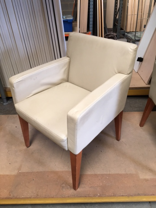 Boss Design beige leather breakout chairs
