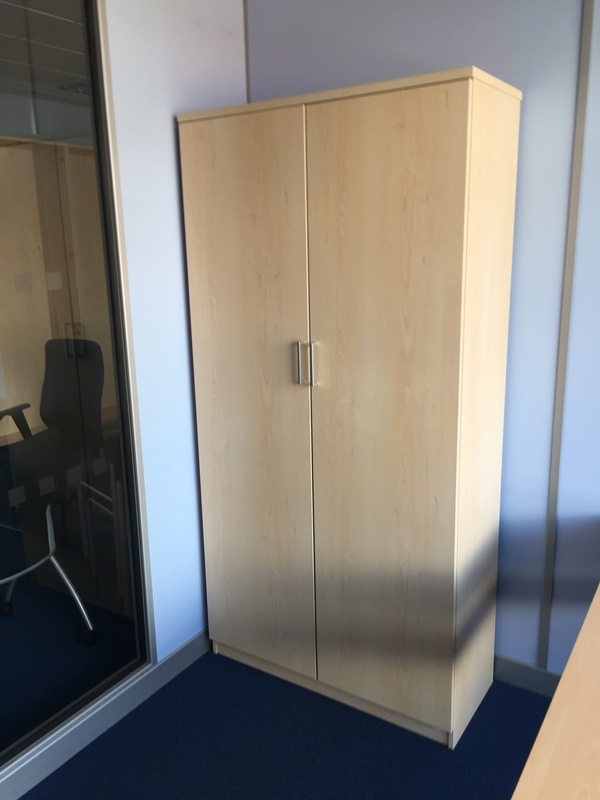 2000mm high FFC maple double door cupboards