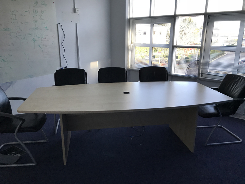 2400mm x 1200900mm maple barrel shaped meeting table