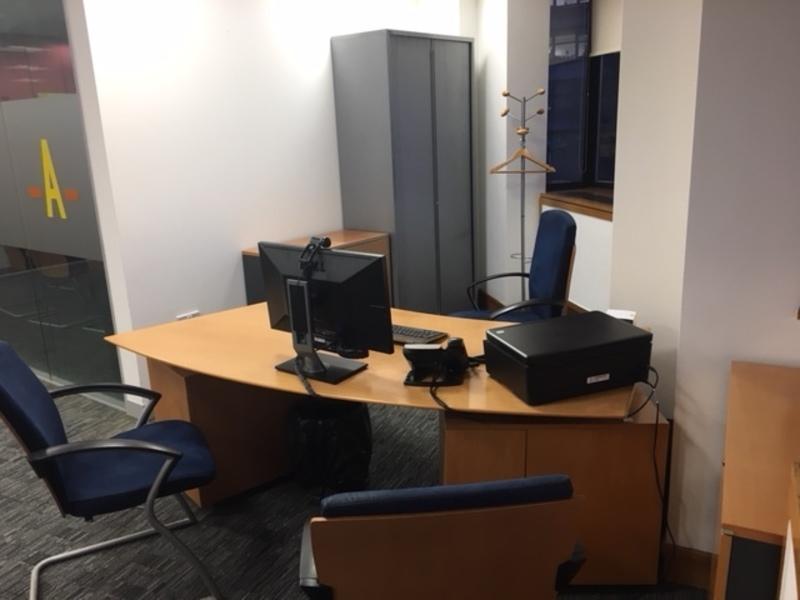 Beech veneer executive workstation