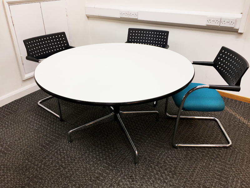 1300 amp 1100mm diameter Vitra circular tables